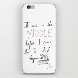 IN THE MIDDLE: PRIDE AND PREJUDICE by JANE AUSTEN iPhone Skin