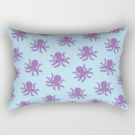 Friendly Octopus // Blue Pattern Rectangular Pillow