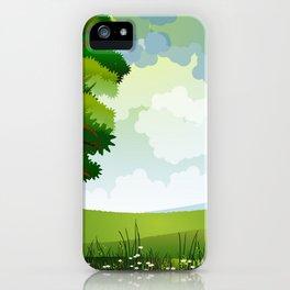 Beautiful Green Pasture Harmonic Day Dreamy UHD iPhone Case