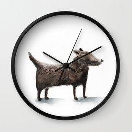 Little black dog Wall Clock