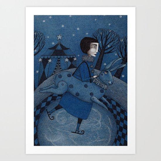 December Park (2) Art Print