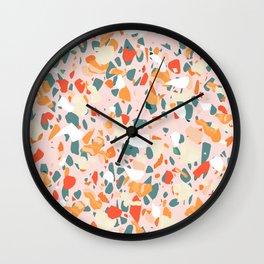 Italian terrazzo IV #pattern #art print Wall Clock