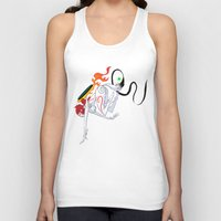 okami Tank Tops featuring VIDEO GIRLS: Okami by Marques Cannon
