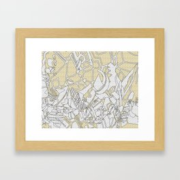lines and troubles 2 Framed Art Print