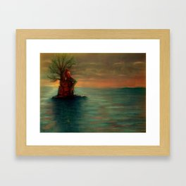 Mermaid at Sunset Framed Art Print