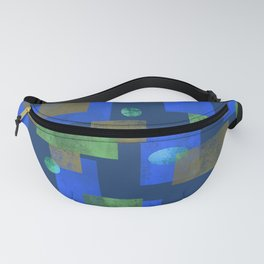 Blue Squares and Circles Fanny Pack