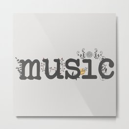 Floral music Metal Print