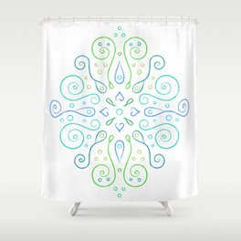 The Joy of Spring Mandala Shower Curtain