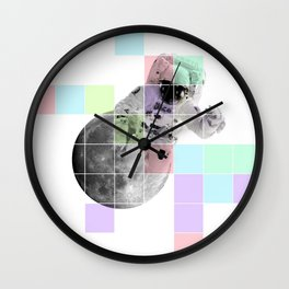 Man on The Moon Abstract Wall Clock