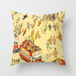 The Lure Of The Underground Throw Pillow