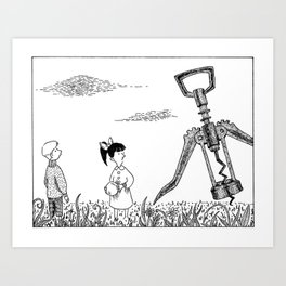 Invasion of the Flying Robots Art Print