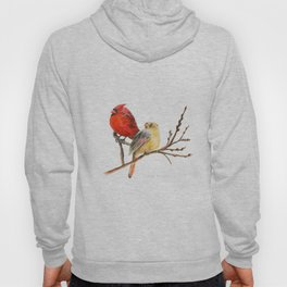 The Perfect Pair - Male and Female Cardinal by Teresa Thompson Hoody