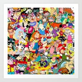 Childhood Cartoons Art Print