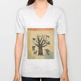Family Tree Unisex V-Neck