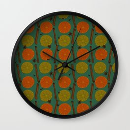 Mulled wine ingredients Wall Clock