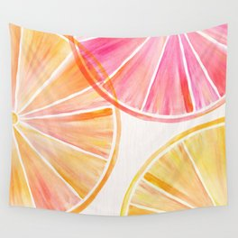 Summer Citrus Party Wall Tapestry
