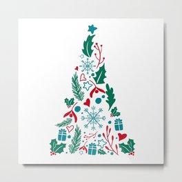 Christmas tree decorative design Metal Print