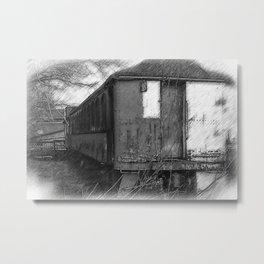 The Old Train Metal Print
