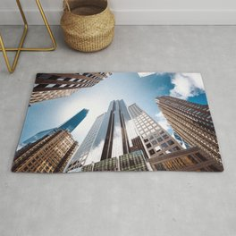 manhattan building low angle view Rug