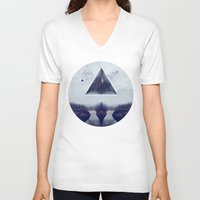 silence of the lambs V-neck T-shirts featuring silence by Peg Essert