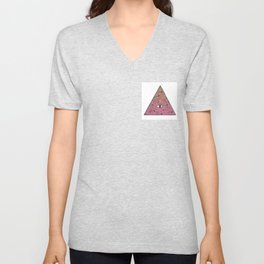 spiral of triangle galaxy (remix) Unisex V-Neck