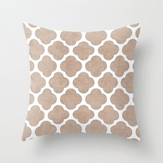 natural clover Throw Pillow