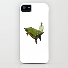 Van Gogh: The Night Cafe - Alone iPhone Case