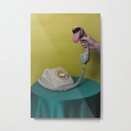 Tongue phone Metal Print