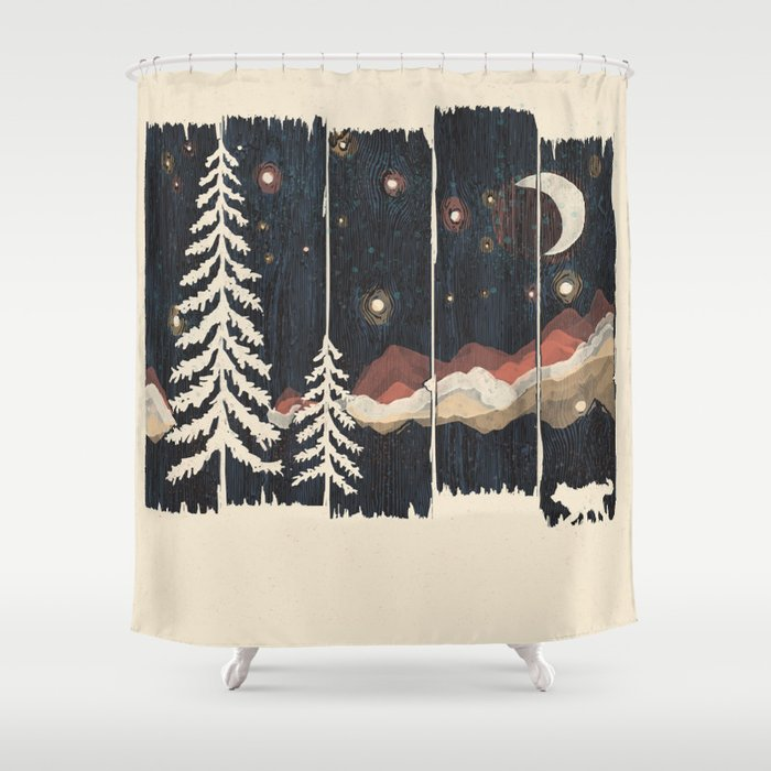 A Starry Night In The Mountains Shower Curtain