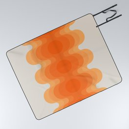 Echoes - Creamsicle Picnic Blanket