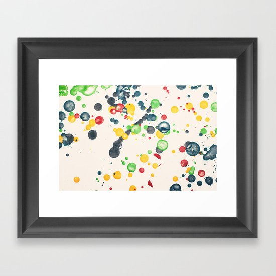 Crayon Love: Splatter This Framed Art Print