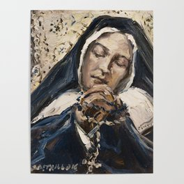 The Ecstasy XI.Sleep of Peace .St. Bernadette Soubirous Poster