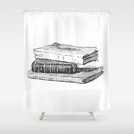 Books 3 Shower Curtain