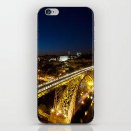 Porto by night iPhone Skin