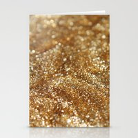 gold glitter Stationery Cards featuring Glitter by Ellie Rose Flynn