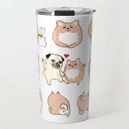 Happy dogs, Happy Life Travel Mug