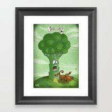 Broccoli - Food series Framed Art Print