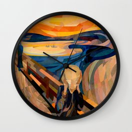 Curves - O Grito Wall Clock
