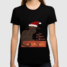 Le Chat Noel Christmas Vector T-shirt