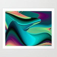 Futuristic, Abstract Rainbowart 6 Art Print