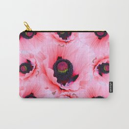 PINK POPPIES COLLAGE Carry-All Pouch