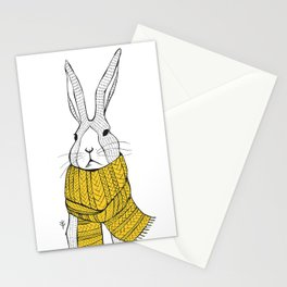 Rabbit in a yellow scarf Stationery Cards