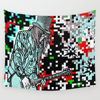 heavy metal Wall Tapestries featuring Abstract Heavy Metal Rocks by Saundra Myles