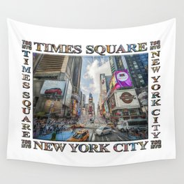 Times Square Traffic (digitally repainted poster) Wall Tapestry