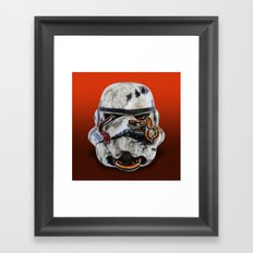 snake and stormtrooper Framed Art Print