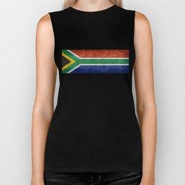 "Flag of South Africa - retro style ""Banner"" version Biker Tank"