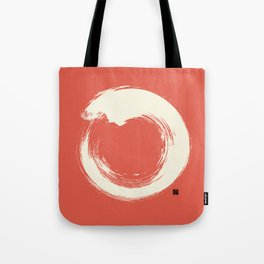 Red Enso / Japanese Zen Circle Tote Bag