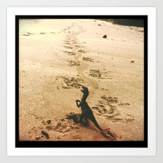 Father's Footsteps Art Print