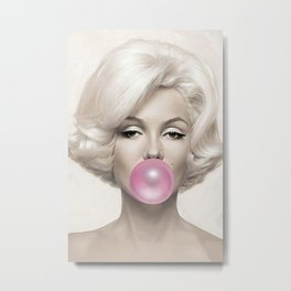 Ma-rilyn Monroe Print, Ma-rilyn Monroe Poster, Famous Print, Print, Poster, Wall Art, Home Decor, Poster Print, Wall Print, Home Prin Metal Print