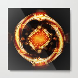 Divine Wheel of Mirrors Metal Print